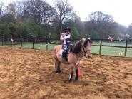 Cai Robson - 5 year old Violet and scampy horse back archery