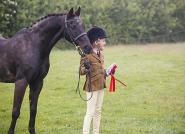 Kerry Jenkin - Olivia and her first pony, Sooty, winning the veteran class. They both look delighted. Olivia is saving her pocket money to make her first purchase for Sooty