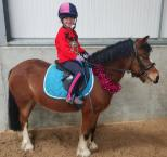 Natalie Halliday - Here is my 6 year old daughter with her 5 year old pony. We love the One Club for the brilliant discount we get, and definitely because of the public liability insurance x