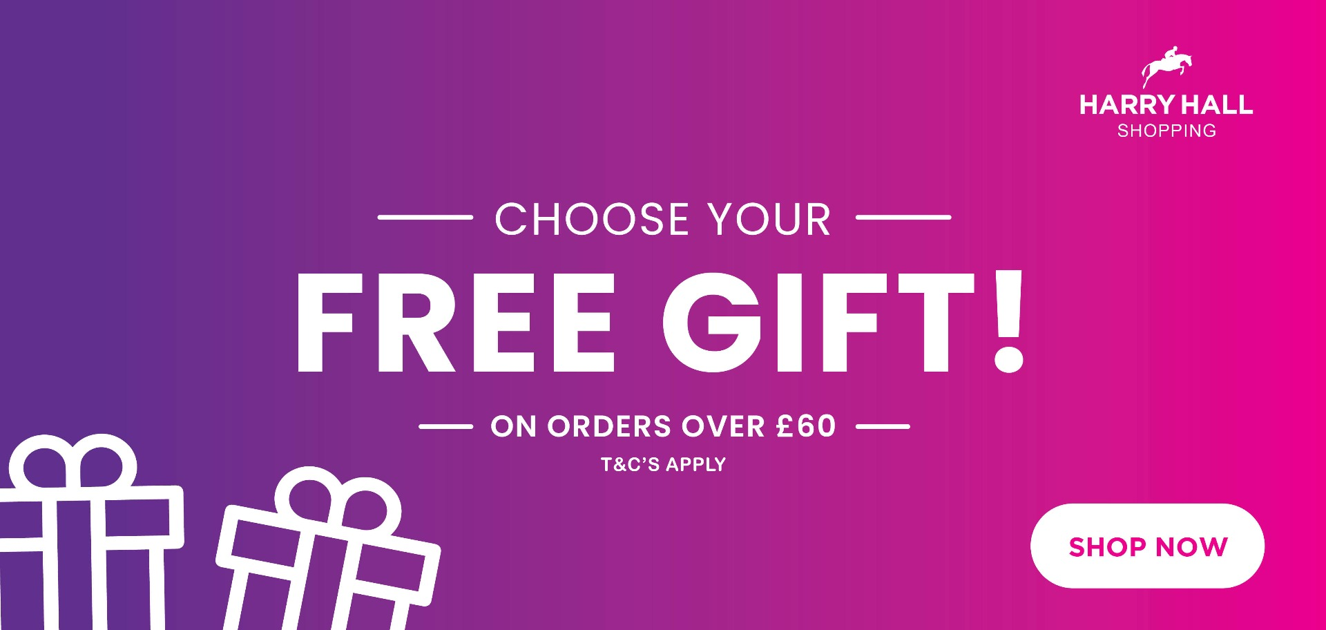 Choose your FREE gift | Harry Hall