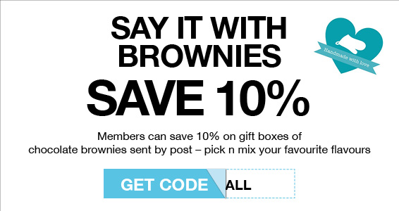 Say it with brownies | Members Save More at Harry Hall