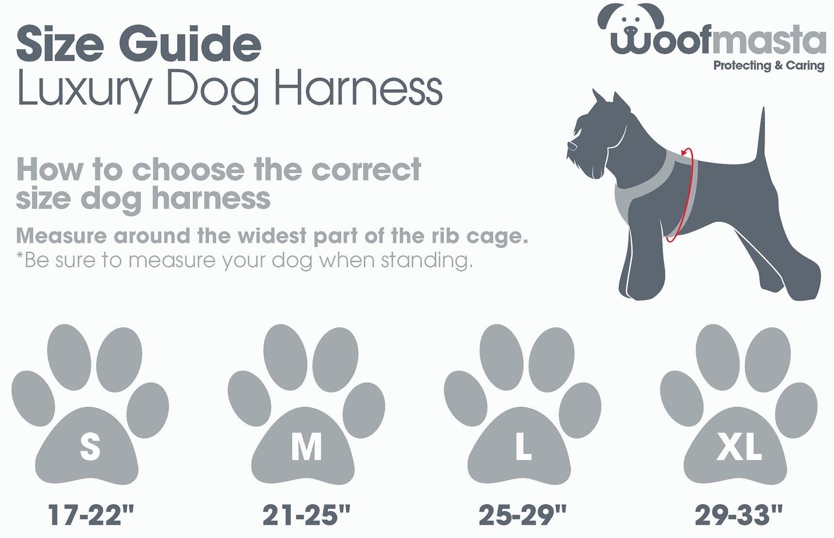 Woofmasta Dog Harness | Size Guide