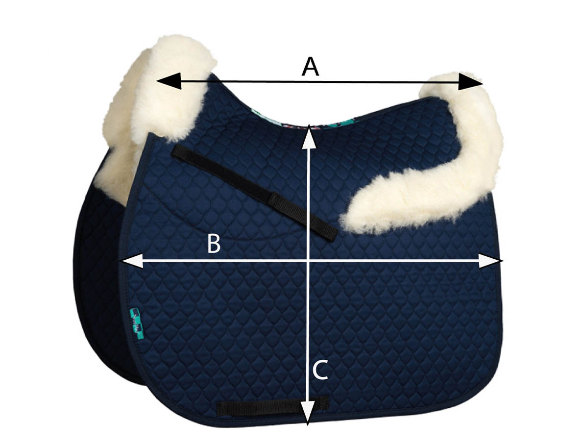NuuMed Wool Half Pad With Collars | Size Guide