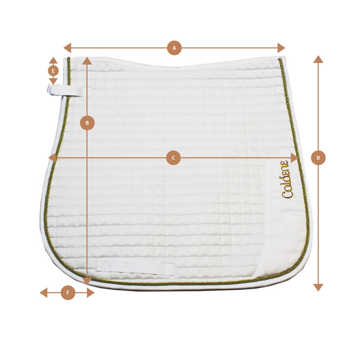 Caldene High Wither Saddlepad | Size Guide