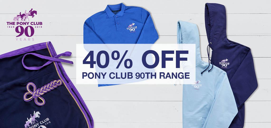 Pony Club - 40% off Pony Club 90th Range