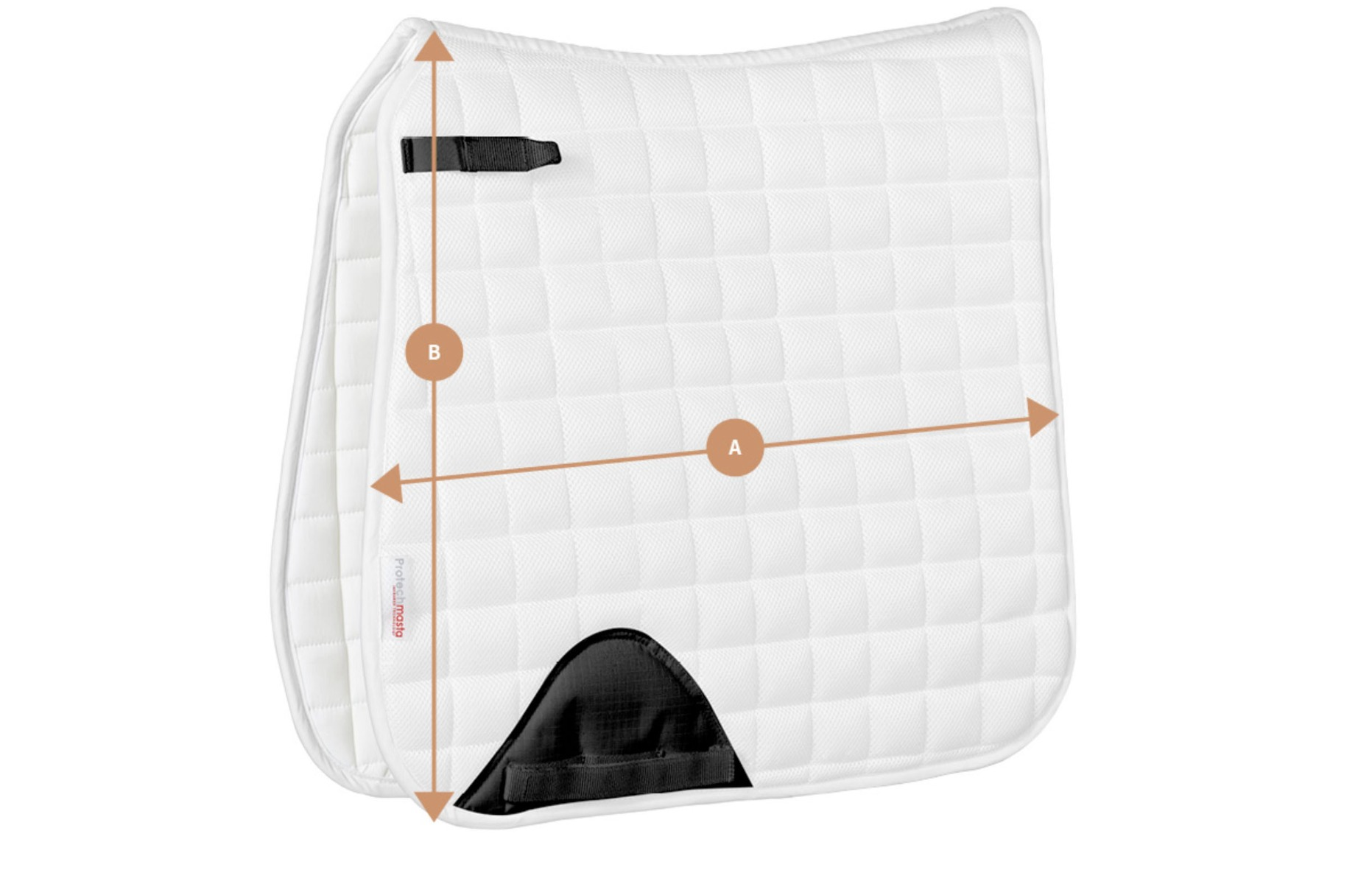 Protechmasta Dressage Saddlepad Size Guide | Harry Hall
