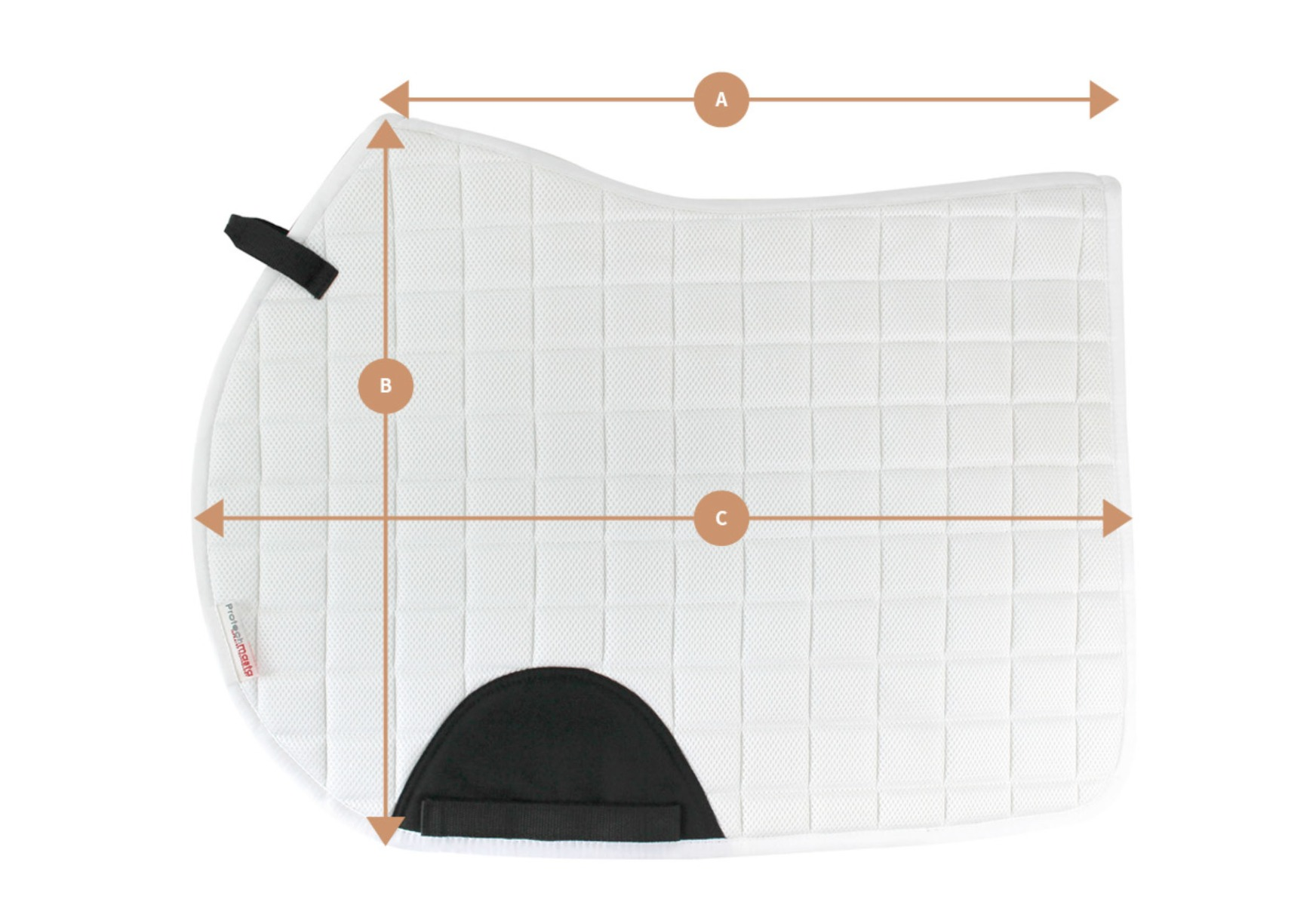 Protechmasta Jump Saddlepad Size Guide | Harry Hall
