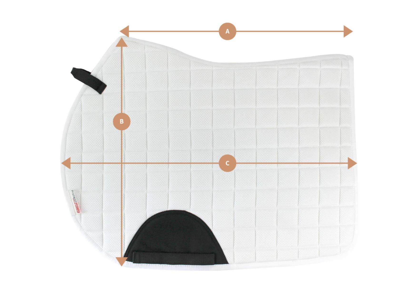 Protechmasta Jump Saddlepad Size Guide | Harry Hall